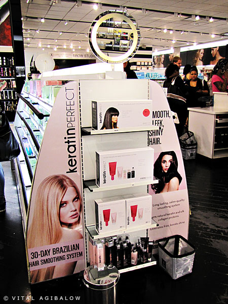 Check out the KeratinPerfect display at Sephora
