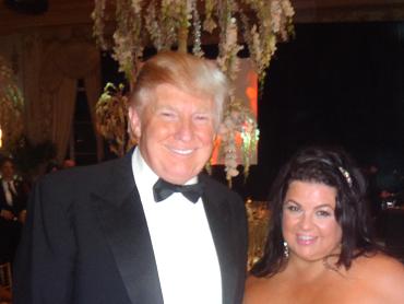 Donald Trump with Mirror Mirror's Fashion Trend Forecaster, Jeanine Recckio
